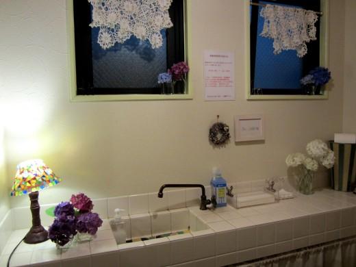 トイレ紫陽花